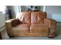 DFS Caesar 3 and 2 seater sofa with Storage Footstool