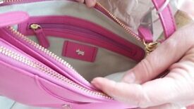 Brand new and used fuschia cross body radley bag
