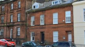 Two rooms in a Georgian Terraced house in central Dumfries for mature professionals