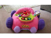 K's kids Jumbo Go go go Car (Pink) Sit me up