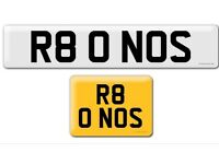 R80 NOS Audi R8 RS8 NOS Nitro private cherished personalised personal registration plate number