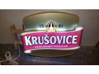 Krusovice outdoor sign