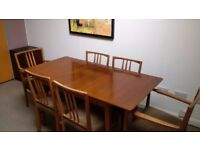 Gordon Russell dining room table and chairs