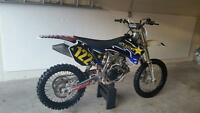 dirt bike Yamaha yz250f 2008