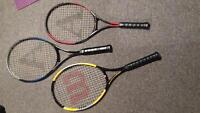 tennis rackets great condition