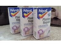 Polycell plaster repair x3
