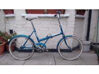 Vintage truimph folding bike