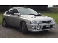 Subaru Impreza TURBO. Accident damaged