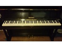 PIANO FREE TO GOOD HOME - MUST COLLECT - NEEDS TUNING AND HAS A PUPPY CHEW ON SIDE - BUT FREE !!