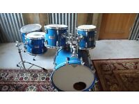 Vintage Yamaha pro tour series drums. Cobalt blue. 1987.Amazing sound. Made in Japan series.