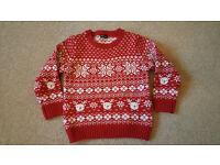 Next Christmas jumper age 3-4