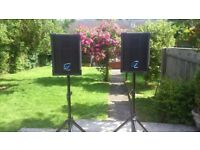 OHM industries RW1 loudspeakers pair DJ disco 150w