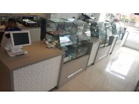 Shop Counter (Bespoke) with Luxury-look Feature Wall Unit!