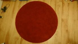 Red circular IKEA rug - Great condition