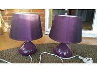 Beside table lamps x 2