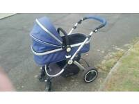 Isafe baby 3 in 1 pram travel system and carseat
