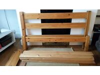 Chunky pine double bed frame FREE DELIVERY