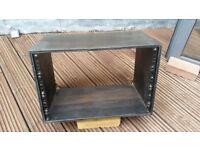 "7U 19"" Studio Rack Cabinet - Black Wood"