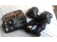 KIDS 'NO FEAR' BRAND - knee and elbow pads - hardly used/VGC PLUS HELMET