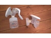 Avent manual breast pump with spare chamber