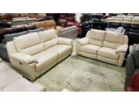 Three and two cream real leather RRP £2500+