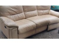 3 Seater Leather Electric Recliner