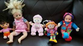 x5 dolls x2 talks dora fisher price