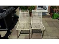 Wicker Ikea chairs for sale