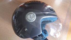 Scooter or Moped Helmet, Takachi TK5 in metallic grey as new