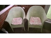 *NEW LOW PRICE TO CLEAR!* 2 * Wicker chairs from 1960's. Perfectly sound condition.