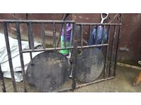 metal gate for front or back parking