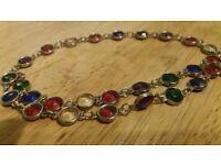 vintage harlequin glass necklaces