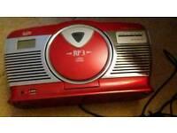 Red radio/cd player like new