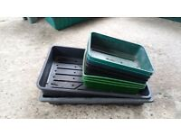 Large selection of seed trays and plant pots