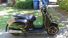 Vespa GT125 ( 125cc FITTED WITH Vespa GTS 250cc Engine ) 2007 Black