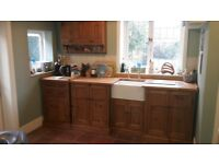 ** PRICE REDUCED ** Solid Pine Kitchen Units, Drawer Unit, Sink Unit, Wall Unit