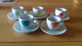 espresso coffee cups and saucers