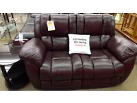 Red 2 Seater Lazy Boy (Non Reclining)