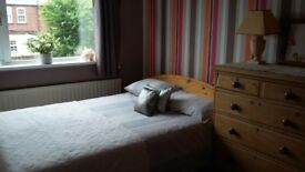 Good size furnished double room in Chesterfield
