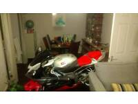 Aprilia RSV1000R 57REG 11K miles Silver and Red