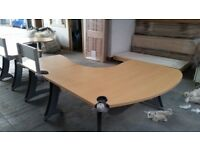 Office desk with beech finish - very sturdy