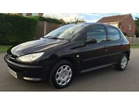 54 REG PEUGEOT 206 1.4S AUTOMATIC, ONLY 45K MILES, FULL MOT, CAMBELT/WATERPUMP CHANGED, STUNNING!