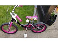 """Girls 16"""" monster high style bike"""
