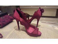 Matching Karen Millen Heels and Bag... purple. Worn once