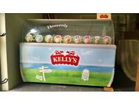 Shop size Ice Cream cabinet, originally used with Kelly's ice cream.