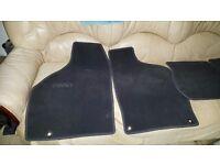 Genuine SAAB Dark Grey carpet Mats for a SAAB 93 1998 - 2002