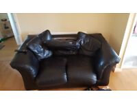 2 seater leather effect sofa -free