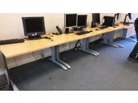 Ideal call centre / office desks. Matching sets. Desk + Chair + Screen