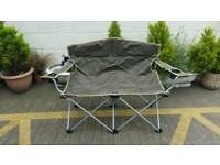 Folding double camping chair