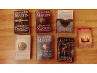 A song of fire and ice (Game of thrones) series, 7 books George R.R Martin